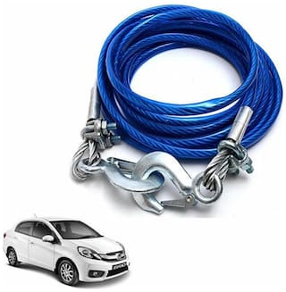 A2D 5 Ton Steel Towing Cable With Tow Hooks-Honda Amaze