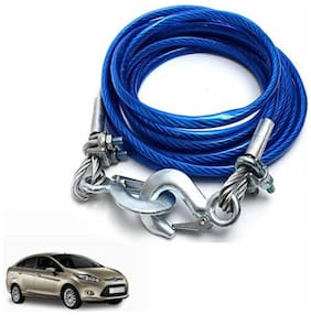 A2D 5 Ton Steel Towing Cable With Tow Hooks-Ford Fiesta