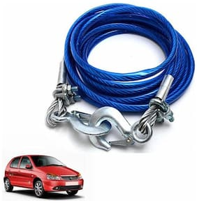 A2D 5 Ton Steel Towing Cable With Tow Hooks-Tata Indica eV5