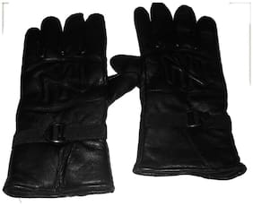 Aadikart Designer black Synthetic Leather hand gloves Protact for winter