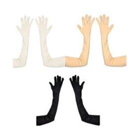 Aadikart Hand gloves protact for winter and cold Skin,Black and white Color-