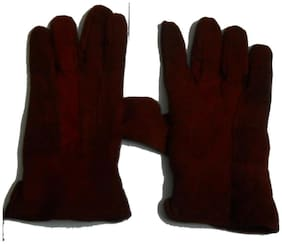 Aadikart Maroon Winter Hand gloves Protect for winter