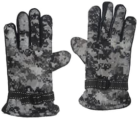 Aadishwar Creations Men's Black Snow-Proof Warm Winter Protective Gloves /Motorcycle Bike Riding Racing Hand Gloves protact for winter