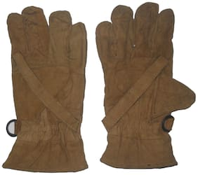 Aadishwar Creation Hand Gloves Protect For Winter (Brown)