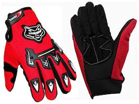 Aashirwad Craft Red Knighthood Hand Gloves For Bike