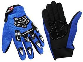 Aashirwad Craft Blue Knighthood Hand Gloves For Bike