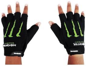 Aashirwad Craft Men's Half Finger Less Hand Gloves