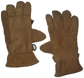 Aashirwad Craft Hand Gloves protect for Winter Brown