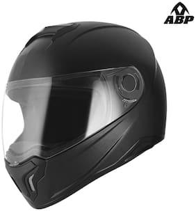 Abp Moto Air Full Face Black Matte Classic Isi Mark Motorbike Helmet With Clear Visor