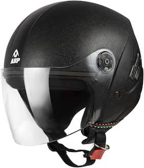 Abp S2 Plain Black Matte Isi Mark Motorbike Helmet