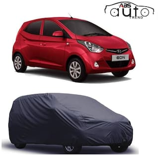 ABS AUTO TREND  Grey Matty Car Cover for  Hyundai Eon with Triple Stitched and Elastic Hem Around The Bottom