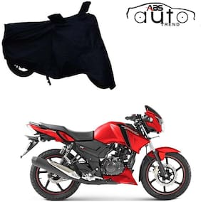 ABS AUTO TREND Bike Body Cover For  TVS Apache Rtr160 ( Black )