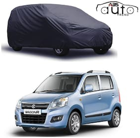 ABS AUTO TREND  Grey Matty Car Cover for  Maruti Suzuki New Wagon R with Triple Stitched and Elastic Hem Around The Bottom