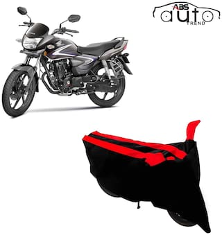 ABS AUTO TREND Two-Wheeler Body Cover for Honda Cb Shine ( Black and Red )