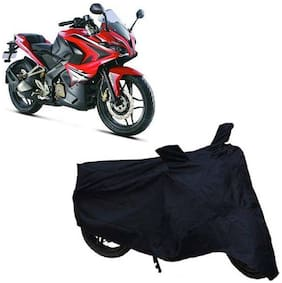 ABS AUTO TREND  Two Wheeler  Black Body Cover For Bajaj Pulsar Rs 200 ( Black )