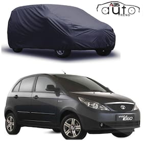 ABS AUTO TREND  Grey Matty Car Cover for  Tata Indica Vista with Triple Stitched and Elastic Hem Around The Bottom