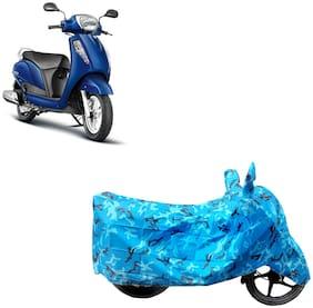 ABS AUTO TREND Two Wheeler Body Cover For Suzuki Access 125 Blue