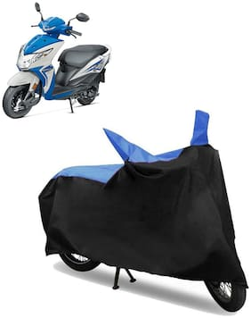 Abs Auto Trend Bike Body Cover for HONDA DIO ( Black and Blue )