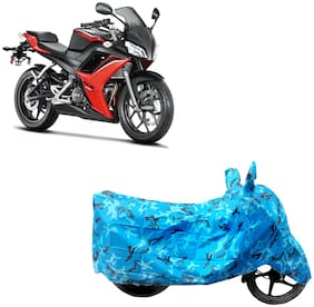 ABS AUTO TREND Two Wheeler Body Cover For Hero Hx 250R Blue