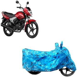 ABS AUTO TREND Two Wheeler Body Cover For Yamaha Saluto Rx Blue