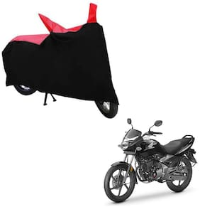 ABS AUTO TREND TWO WHEELER BODY COVER FOR HONDA CB UNICORN 150 (Black and Red)