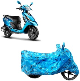 ABS AUTO TREND Two Wheeler Body Cover For Tvs Scooty Zest Blue