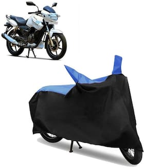 Abs Auto Trend Bike Body Cover for TVS APACHE RTR 180 ( Black and Blue )
