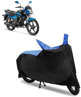 Abs Auto Trend Bike Body Cover for HERO GLAMOUR ( Black and Blue )