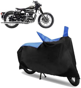 Abs Auto Trend Bike Body Cover for ROYAL ENFIELD CLASSIC 350 ( Black and Blue )