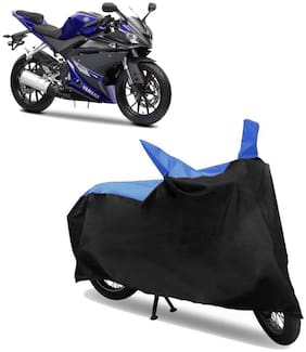 Abs Auto Trend Bike Body Cover for YAMAHA YZF R15 V3 ( Black and Blue )