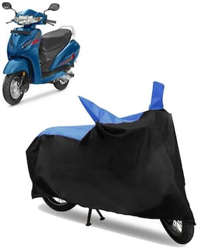 Abs Auto Trend Bike Body Cover for HONDA ACTIVA 4G ( Black and Blue )