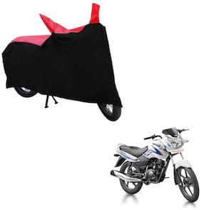 ABS AUTO TREND TWO WHEELER BODY COVER FOR TVS SPORT (Black and Red)