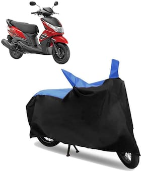 Abs Auto Trend Bike Body Cover for YAMAHA RAY Z ( Black and Blue )
