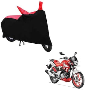 ABS AUTO TREND TWO WHEELER BODY COVER FOR HERO XTREME 200S (Black and Red)