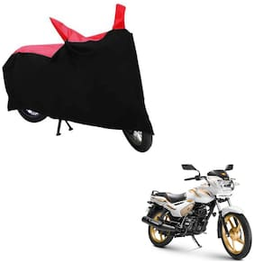 ABS AUTO TREND TWO WHEELER BODY COVER FOR TVS STAR CITY PLUS (Black and Red)