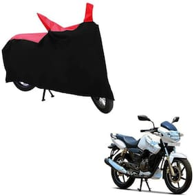 ABS AUTO TREND TWO WHEELER BODY COVER FOR TVS APACHE RTR 180 (Black and Red)
