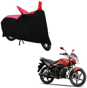 ABS AUTO TREND TWO WHEELER BODY COVER FOR HERO PASSION X PRO (Black and Red)
