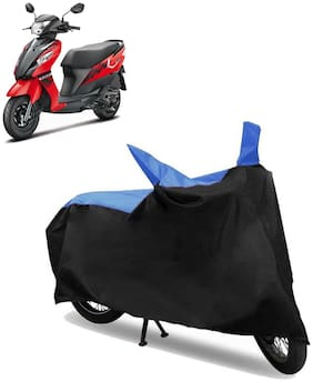Abs Auto Trend Bike Body Cover for SUZUKI LET'S ( Black and Blue )