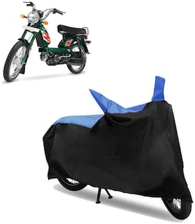 Abs Auto Trend Bike Body Cover for TVS XL-100 ( Black and Blue )