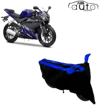 ABS AUTO TREND Two-Wheeler Body Cover for Yamaha Yzf R15 V3.0 ( 2 Strip, Black and Blue )