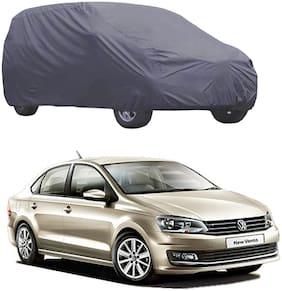 ABS AUTO TREND Matty Grey Color Car Cover for Volkswagen Vento ( Grey )