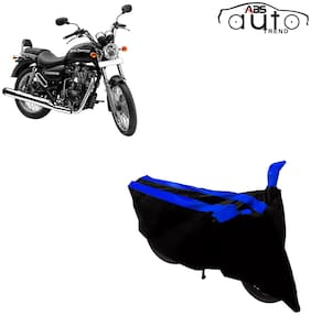 ABS AUTO TREND Two-Wheeler Body Cover for Royal Enfield Thunderbird 500 ( 2 Strip, Black and Blue )