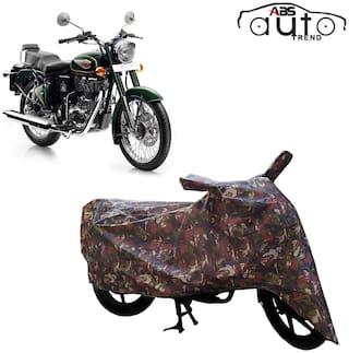 ABS AUTO TREND Jungle Bike Body Cover for Royal Enfield Bullet 500 ( Multi )