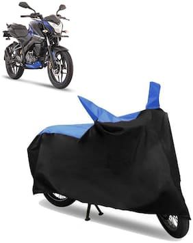 Abs Auto Trend Bike Body Cover for Bajaj Pulsar NS160 ( Black and Blue )