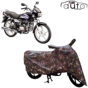 ABS AUTO TREND Jungle Bike Body Cover for Hero Splendor Plus ( Multi )