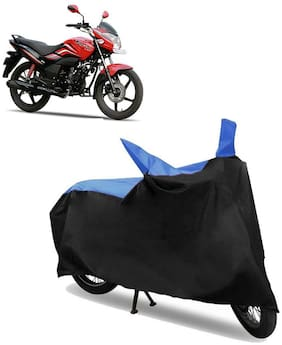 Abs Auto Trend Bike Body Cover for HERO PASSION X PRO ( Black and Blue )