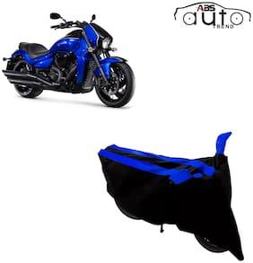 ABS AUTO TREND Two-Wheeler Body Cover for Suzuki Intruder M1800R ( 2 Strip, Black and Blue )