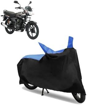 Abs Auto Trend Bike Body Cover for Bajaj Platina Comfertec ( Black and Blue )