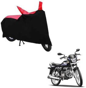ABS AUTO TREND TWO WHEELER BODY COVER FOR HERO SPLENDER PRO (Black and Red)