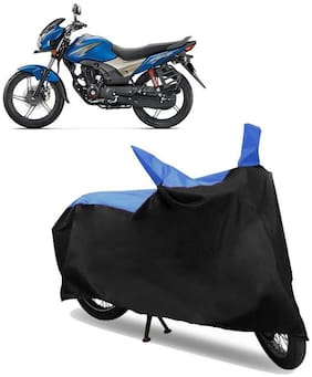 Abs Auto Trend Bike Body Cover for HONDA CB SHINE SP ( Black and Blue )